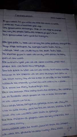 schule englisch argumentation - Erorterung Englisch Beispiel