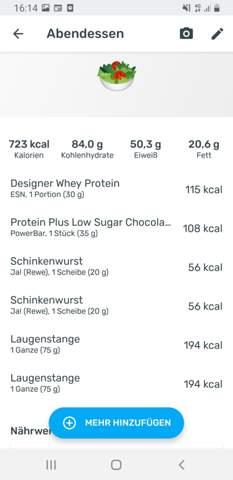 Ist diese Ernährung gut (Fitness)?