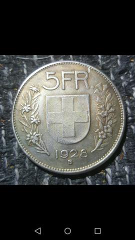 5 chf - (Geld, Schweiz, Münze)