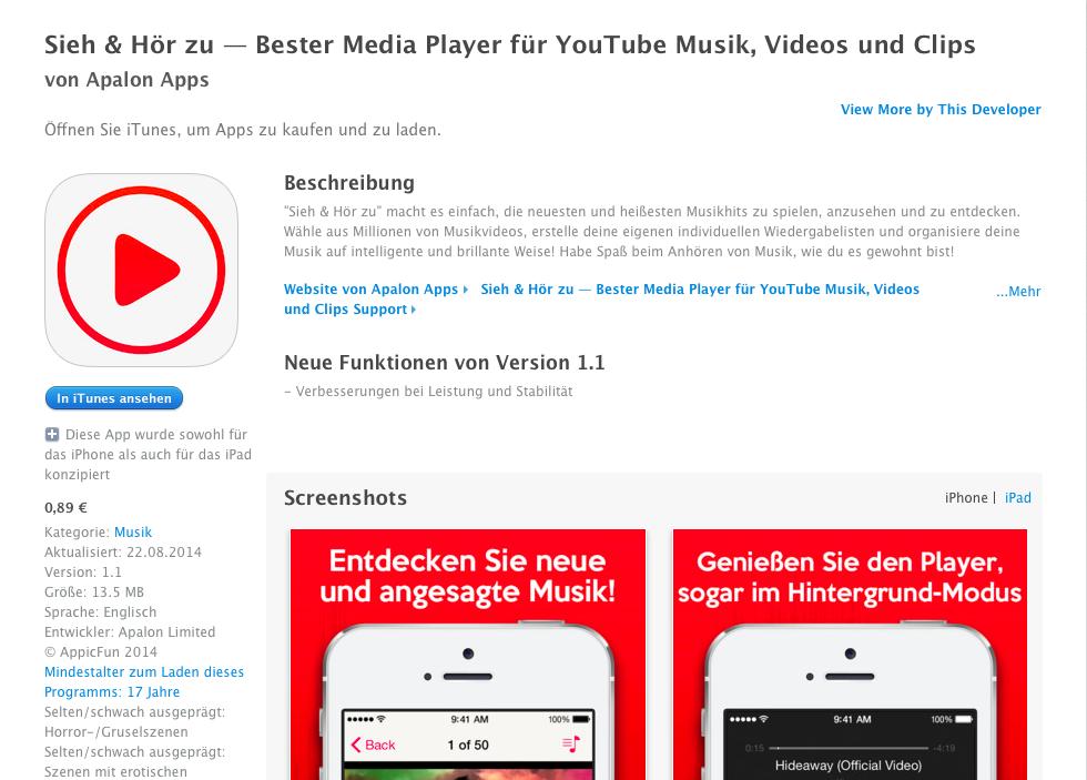 Eine App Wo Man Musik Runterladen Kann
