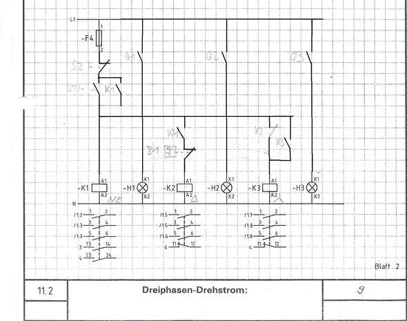 Groß Schaltplan Von Stern Dreieck Starter Galerie - Elektrische ...
