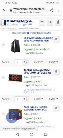 Ist dieser 500€ PC gut von Mindfactory?
