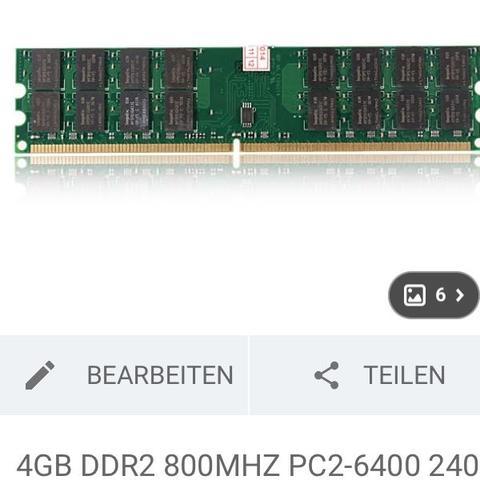 DDR2 Arbeitsspeicher AMD Motherboard Intel Motherboard  - (RAM, AMD, Intel)