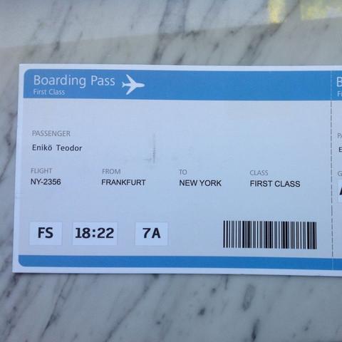 Der pass - (Fake, Technick, Boarding Pass)