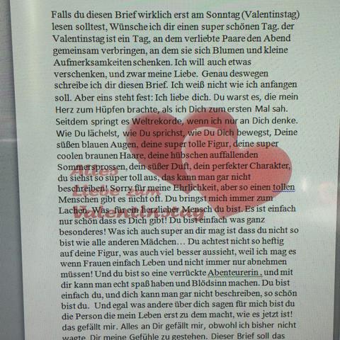 Erste Seite   (Liebe, Valentinstag)
