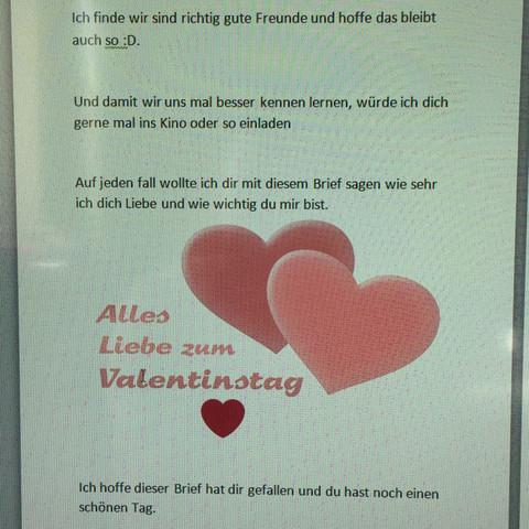 Ist Dieser Brief Gut Als Liebes Gestandnis Fur Den Valentinstag