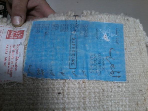 Blauer Zettel - (Teppich, wertvoll)