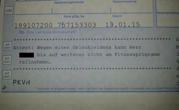 Ist Dieses Attest Ausreichend Für Eine Kündigung Sport Deutsch Arzt