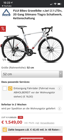 - (Sport, Fahrrad, Rennrad)