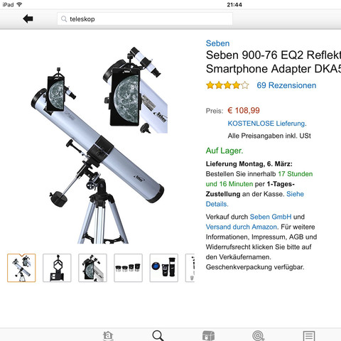 Teleskop  - (Astronomie, Universum, Planeten)
