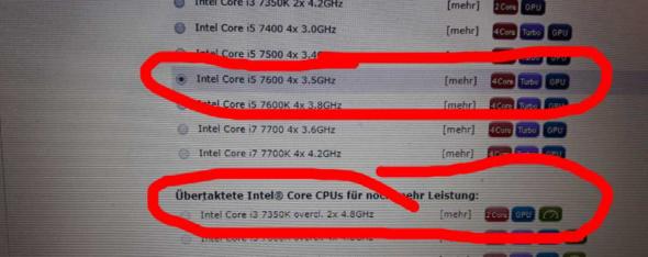 Intel Core I3 Oder I5