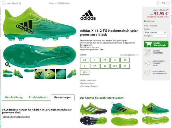 Der teurere Schuh - (Fußball, Preis, Fussballschuhe)