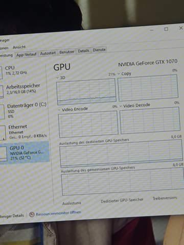 Ist eine GPU Auslastung von 20% im Leerlauf normal?