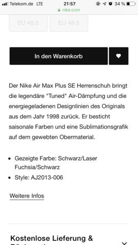 - (Nike, Sneaker, Nike Air Max)