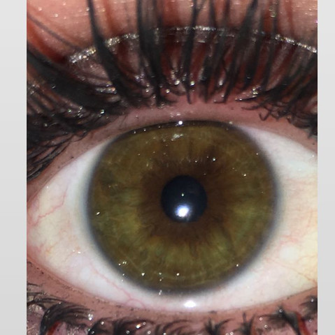 Und einmal mit Blitz  - (Augen, Augenfarbe)