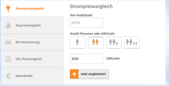 Ein Screenshot aus verivox.de  - (programmieren, Website, html)