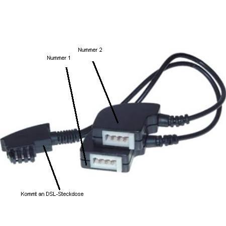 Adapter, der an DSL-Steckdose kommt - (Computer, Telefon, Fritz Box)