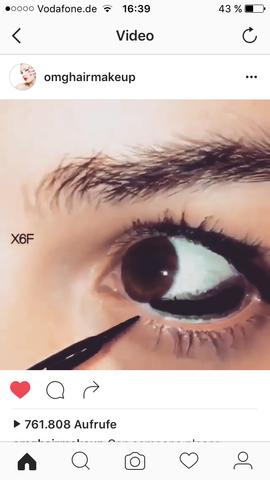 Schwarze Bindenhaut färben mit eyeliner - (Krankheit, Augen, Schminke)