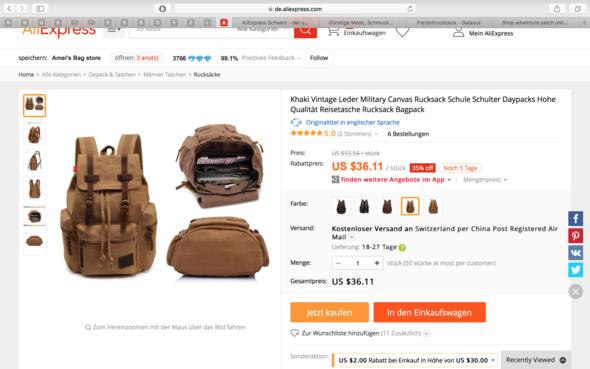 Rucksack - (shoppen, Online Bestellung, aliexpress)