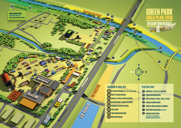 das ist die map - (Festival, frequency, Green Camping)