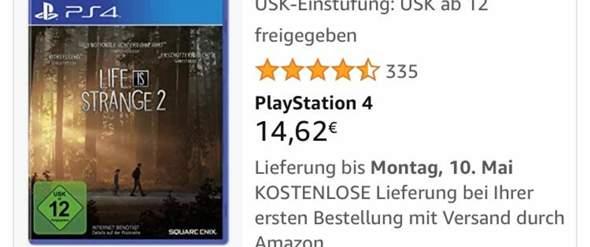 Ist live is Strange jetzt ab 12 oder 16 (Österreich)?