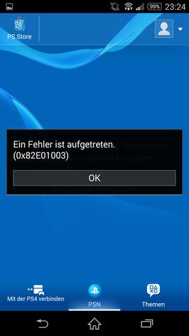 Playstation App - (Handy, Sony, Fehler)