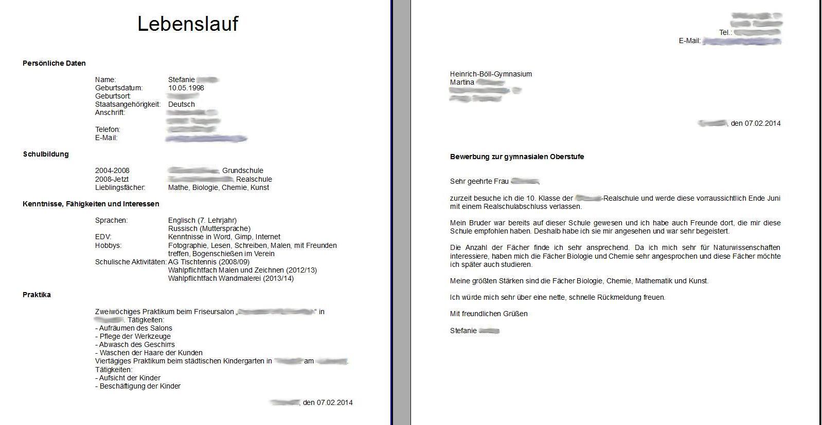 Beste Bund Lebenslauf Vorlage Bilder - Beispielzusammenfassung Ideen ...