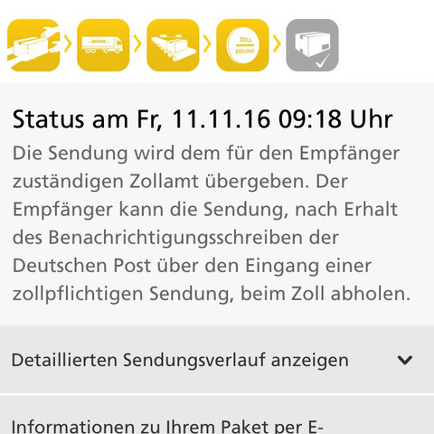 Sendungsverfolgung DHL - (Paket, Zoll)