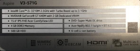 Inhalte meines Acer Aspire V3 571G - (Computer, PC, Technik)