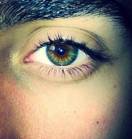 Ist meine Augenfarbe Innen: Braun Außen: Grün selten