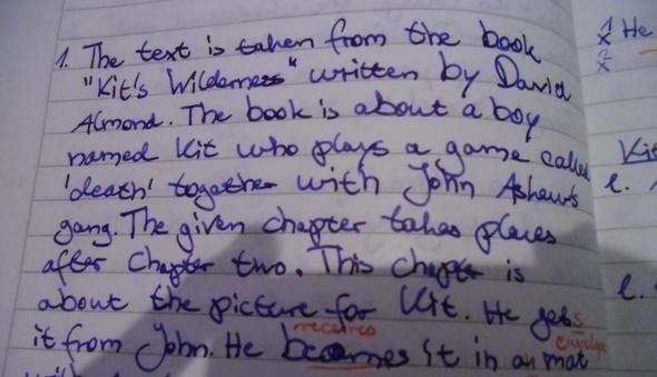 Handschrift - (Schule, englisch, Lehrer)