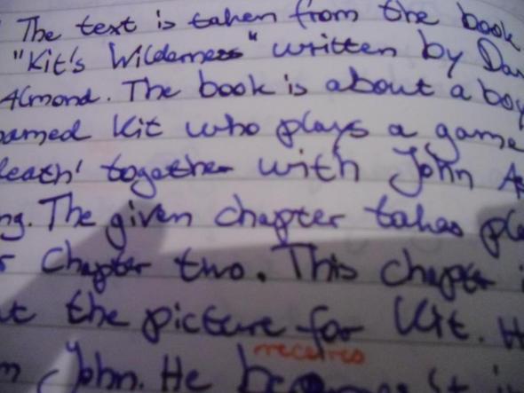 Handschrift (2) - (Schule, englisch, Lehrer)