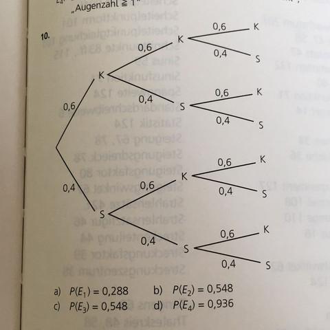 Lösung der Aufgabe 10) im Buch  - (Schule, deutsch, Mathe)