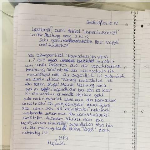 Leserbrief aufbau deutsch panasonic er gc50 aufsatz