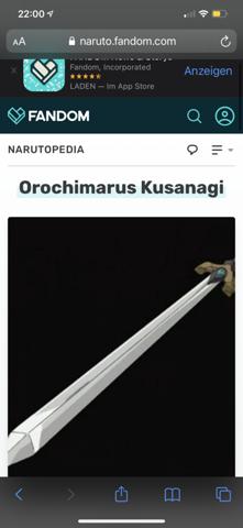 Ist Orochimarus Kusanagi aus Naruto  ein katana?