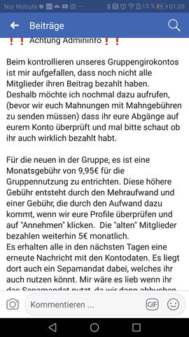 - (Facebook, Polizei, Steuern)