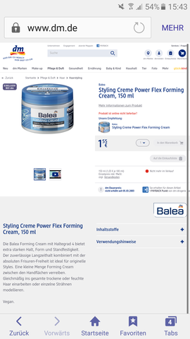 Forming cream - (Haare, Forming creme)
