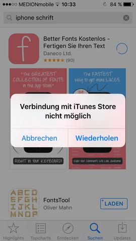 Das kommt dann immer☹ - (App, Telekommunikation, iTunes)