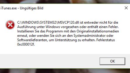 Fehlermeldung iTunes - (Computer, Technik, Technologie)