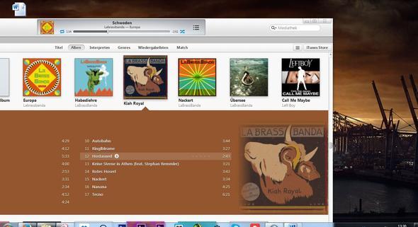 In dieser Größe öffnet sich iTunes nach dem minimieren. - (Computer, Windows, iTunes)