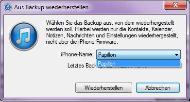 Backup wiederherstellen - (iPhone, iTunes, Backup)