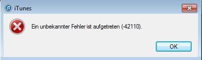Unbekannter Fehler - (Computer, Windows 7, iTunes)