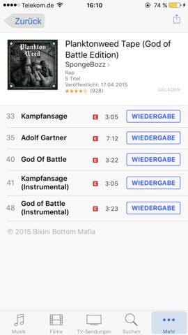 itunes gekauftes album