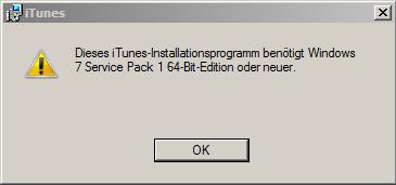 fehlermeldung - (Computer, Windows 7, iTunes)