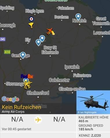 Ja ... Helikopter wird mir als Flugzeug angezeigt, warum?