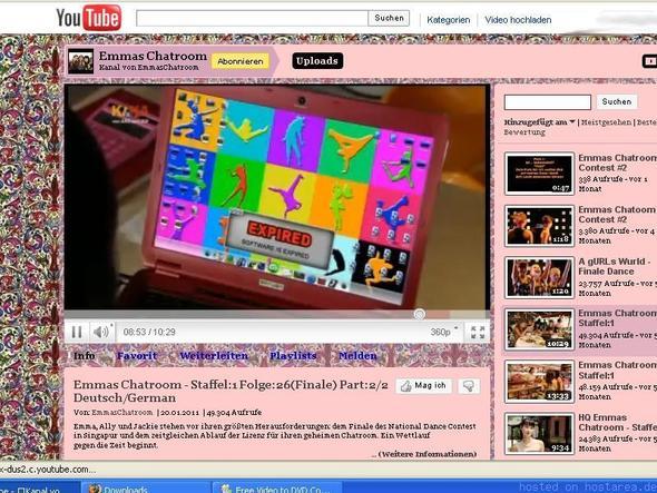 Jackies Laptop - (Bildschirmschoner, emmas-chatroom, Jackies Bildschirmschoner)