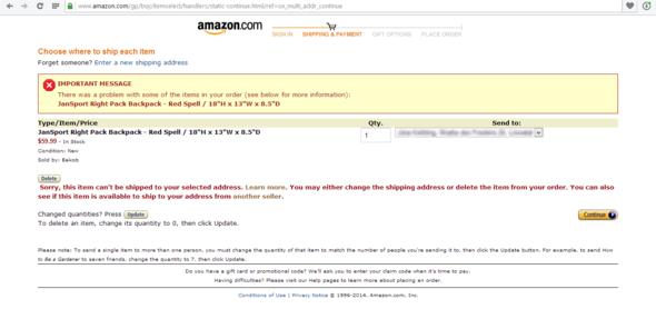 Screenshot - (Amazon, Online-Shop, Bestellen)
