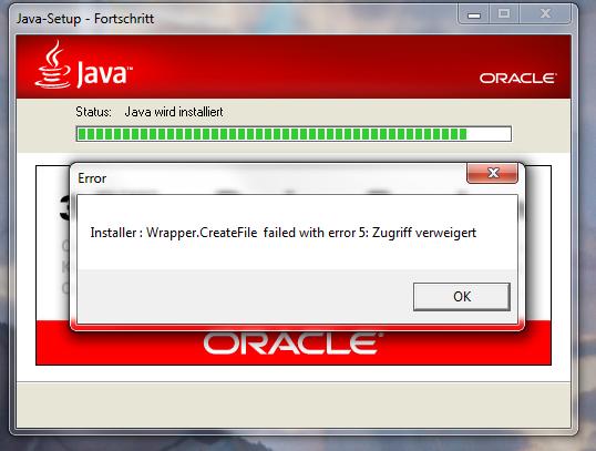JAVA - (Fehler, Java, Installation)