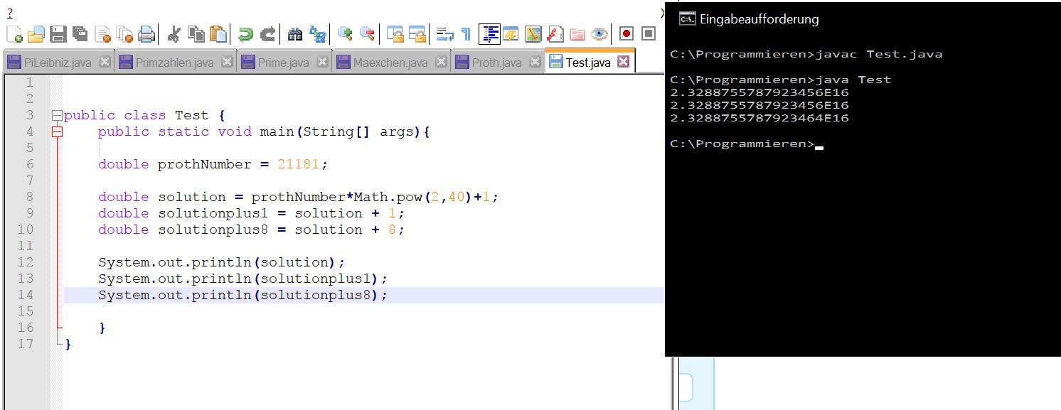 Java double ungenau? (Computer, programmieren)