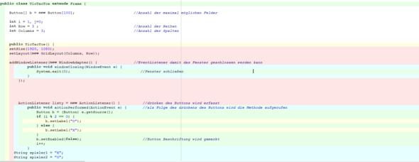 Java Editor Tic Tac Toe  Gewinner ermitteln?